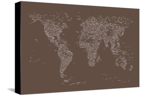 World map of cities stretched canvas print by michael tompsett at world map of cities gumiabroncs Image collections