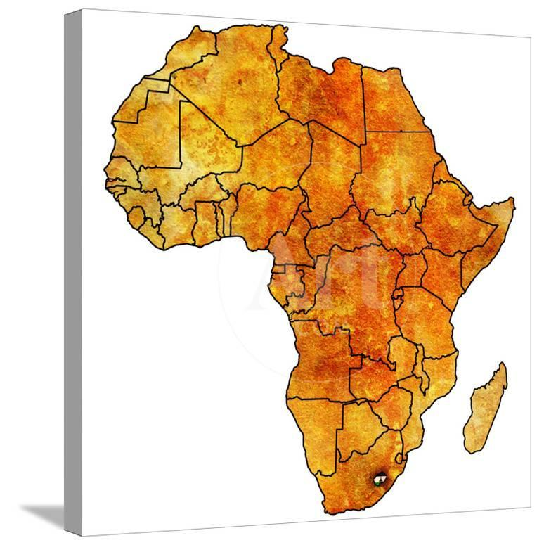 Lesotho On Actual Map Of Africa Posters By Michal812 At Allposters Com