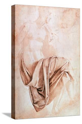 Recto Study of Drapery Reproducción de lámina sobre lienzo