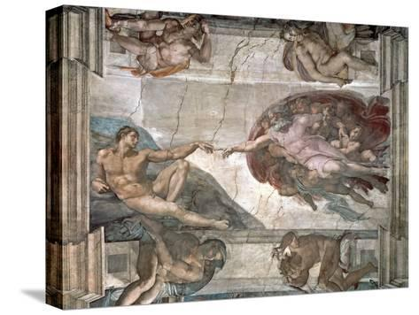The Creation of Adam from the Sistine Chapel, 1508-12 Reproducción de lámina sobre lienzo