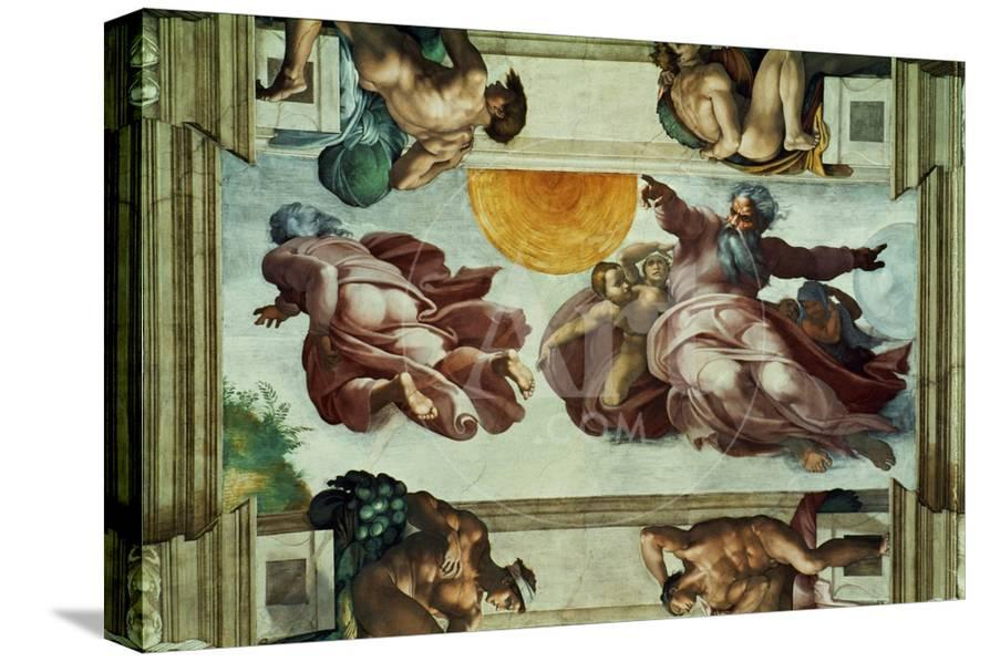The Sistine Chapel Ceiling Frescos After Restoration Giclee Print By Michelangelo Buonarroti At Allposters