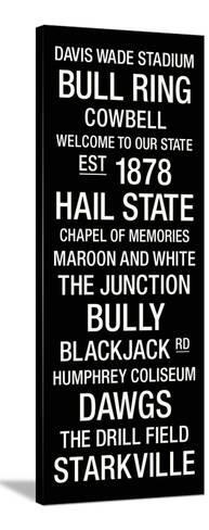 Mississippi State: College Town Wall Art Stretched Canvas Print