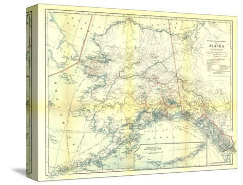1914 Alaska Map Pingotettu canvasvedos