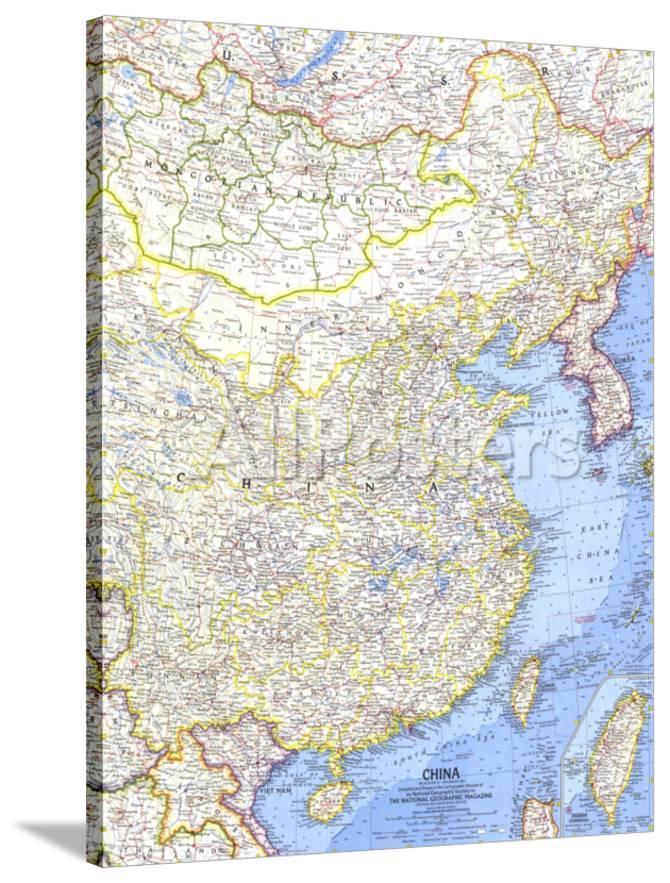 National Geographic Map Of China.1964 China Map Prints By National Geographic Maps At Allposters Com