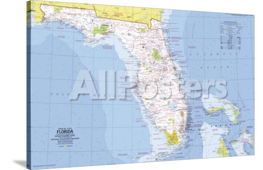 Map Of Usa Florida.1973 Close Up Usa Florida Map
