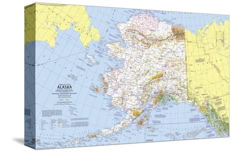 1975 close up usa alaska map