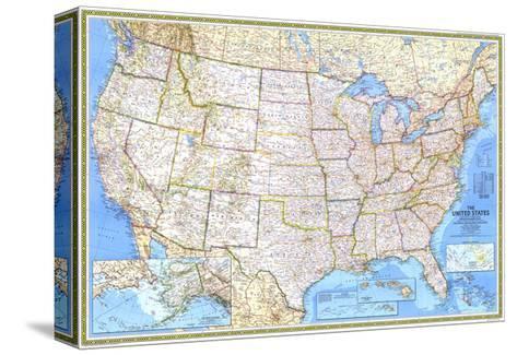 1987 United States Map Pingotettu canvasvedos