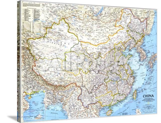 National Geographic Map Of China.1991 China Map Poster By National Geographic Maps At Allposters Com