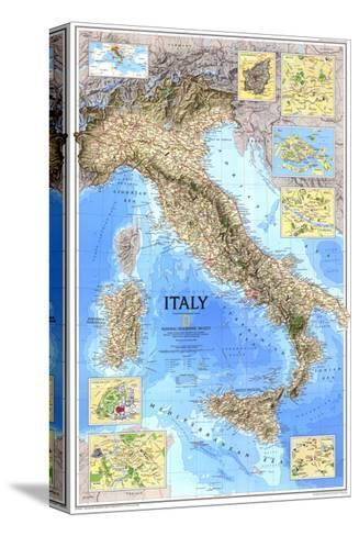 1995 Italy Map Pingotettu canvasvedos