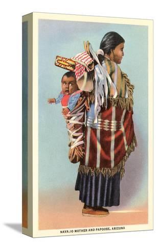 Navajo Mother and Papoose Stretched Canvas Print