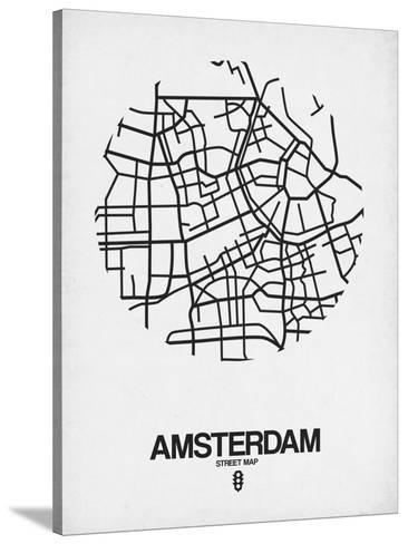 Amsterdam Street Map White Prints By Naxart At Allposters Com