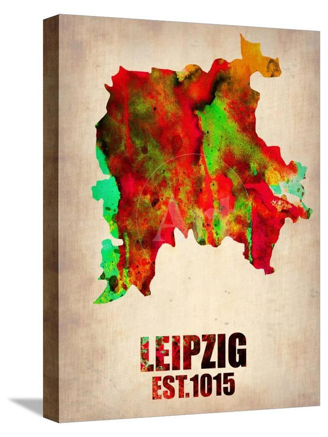 Leipzig Watercolor Poster Posters Naxart Allposters Com