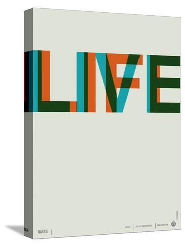 Live Life Poster 2 Stretched Canvas Print