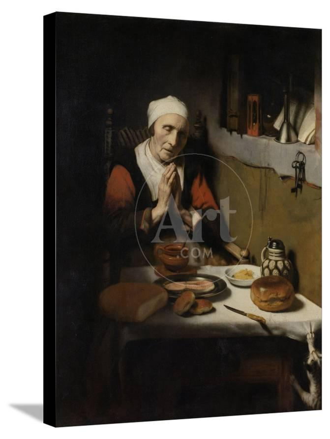 Old Woman Saying Grace Known As The Prayer Without End C1656