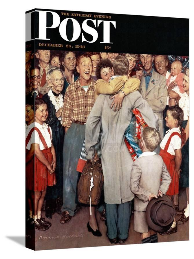 Christmas Homecoming Rockwell.Christmas Homecoming Saturday Evening Post Cover December 25 1948