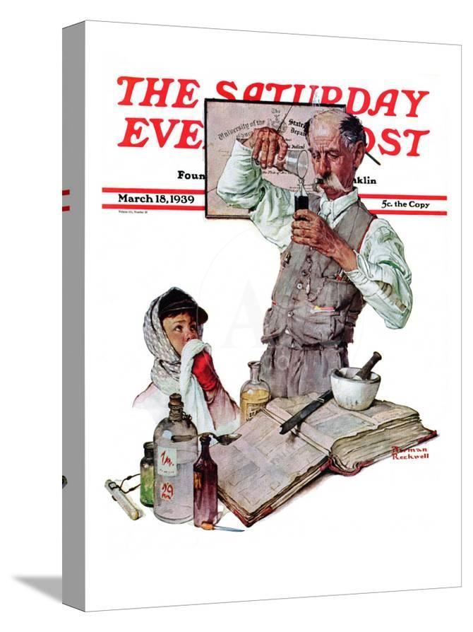 Pharmacist Saay Evening Post Cover March 18 1939