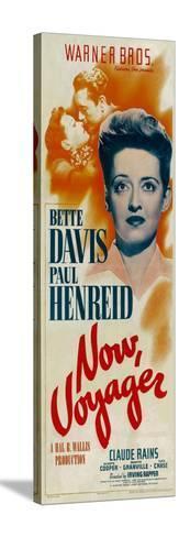 NOW, VOYAGER, top from left: Bette Davis, Paul Henreid, bottom: Bette Davis, 1942 Impressão em tela esticada