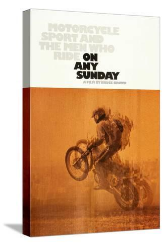 ON ANY SUNDAY, US poster, 1971. Stretched Canvas Print