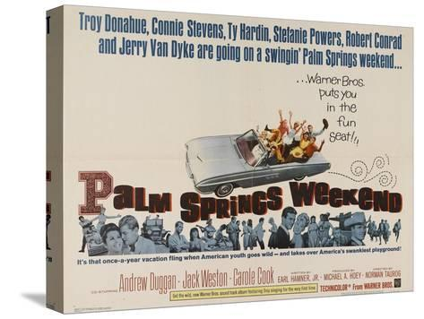 Palm Springs Weekend, 1963, Directed by Norman Taurog Stretched Canvas Print