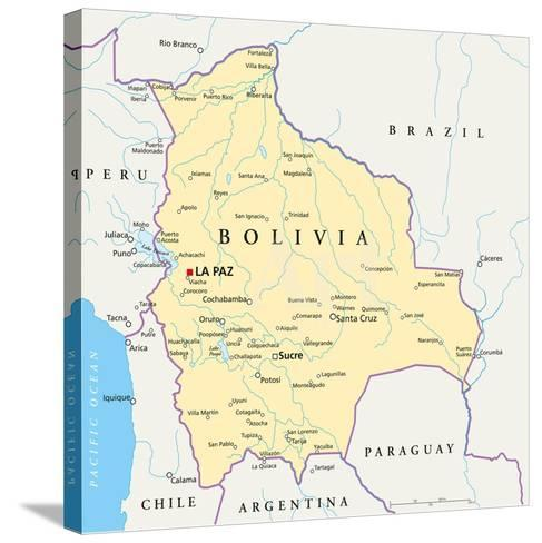 Bolivia Political Map Prints By Peter Hermes Furian At Allposters Com
