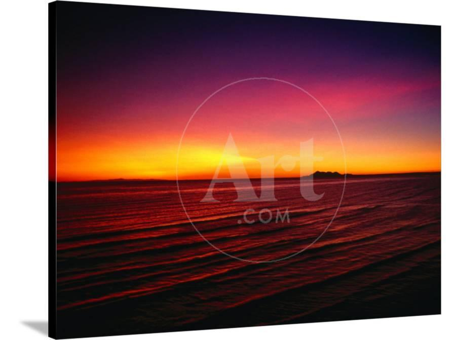 new arrival fe66a d3b5a Sunset Over Mar De Cortes, Sea of Cortez, Mexico Photographic Print by  Peter Ptschelinzew at AllPosters.com