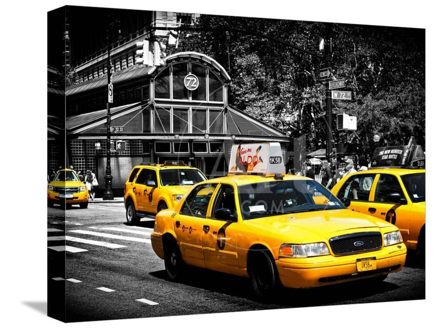 Yellow Cabs, 72nd Street, IRT Broadway Subway Station, Upper West Side of  Manhattan, New York