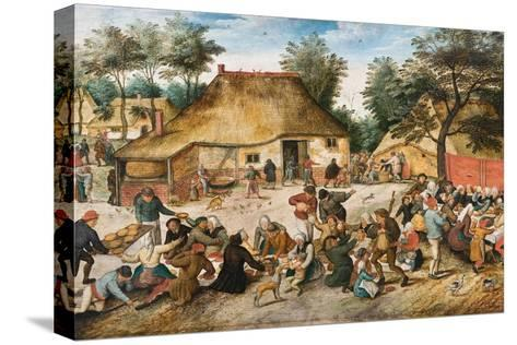 The Peasant Wedding Reproducción de lámina sobre lienzo