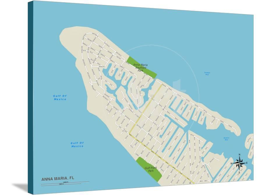 Political Map Of Anna Maria Fl Poster At Allposters Com