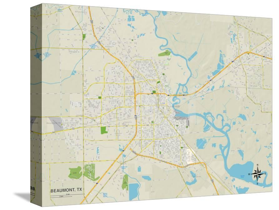 Map Of Beaumont Texas.Political Map Of Beaumont Tx Posters At Allposters Com