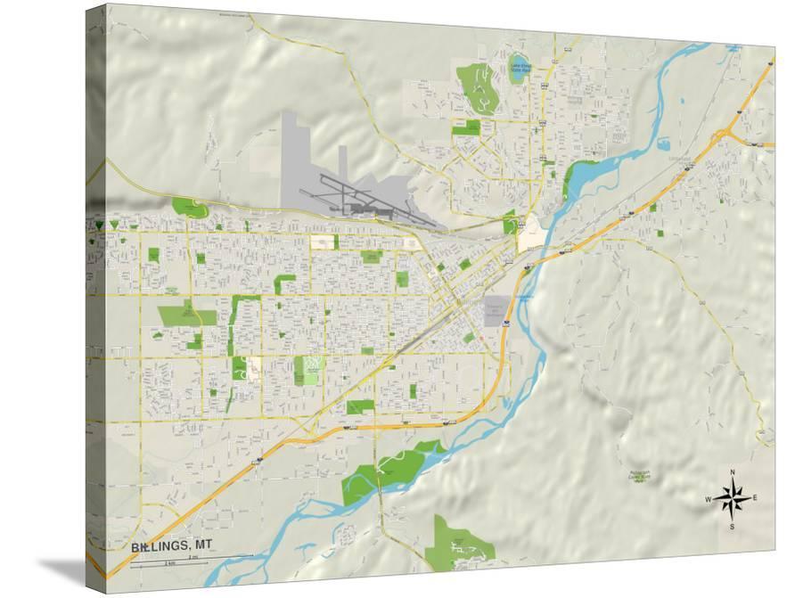 Political Map of Billings, MT Art at AllPosters.com
