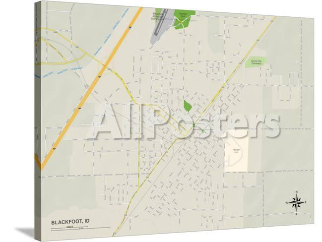 Political Map Of Blackfoot Id Prints At Allposters Com