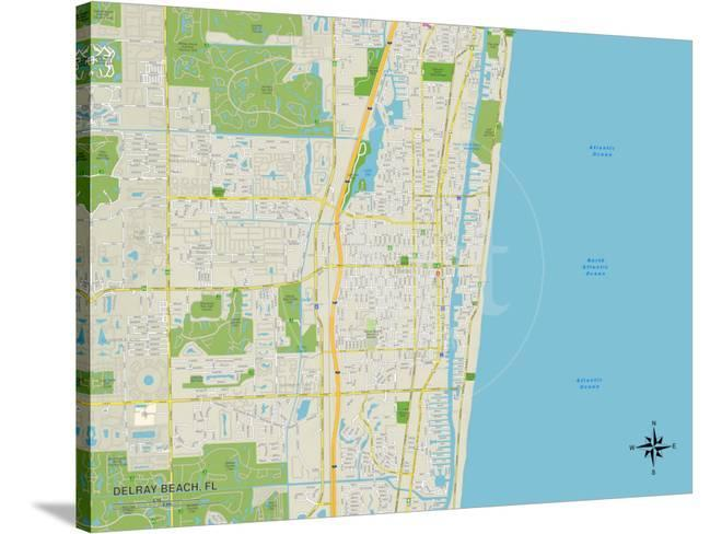 Map Of Florida Showing Delray Beach.Political Map Of Delray Beach Fl Posters At Allposters Com