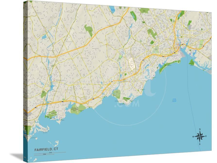Political Map of Fairfield, CT