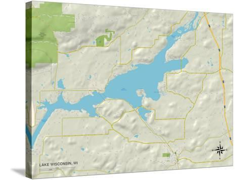Political Map Of Lake Wisconsin Wi Posters At Allposters Com