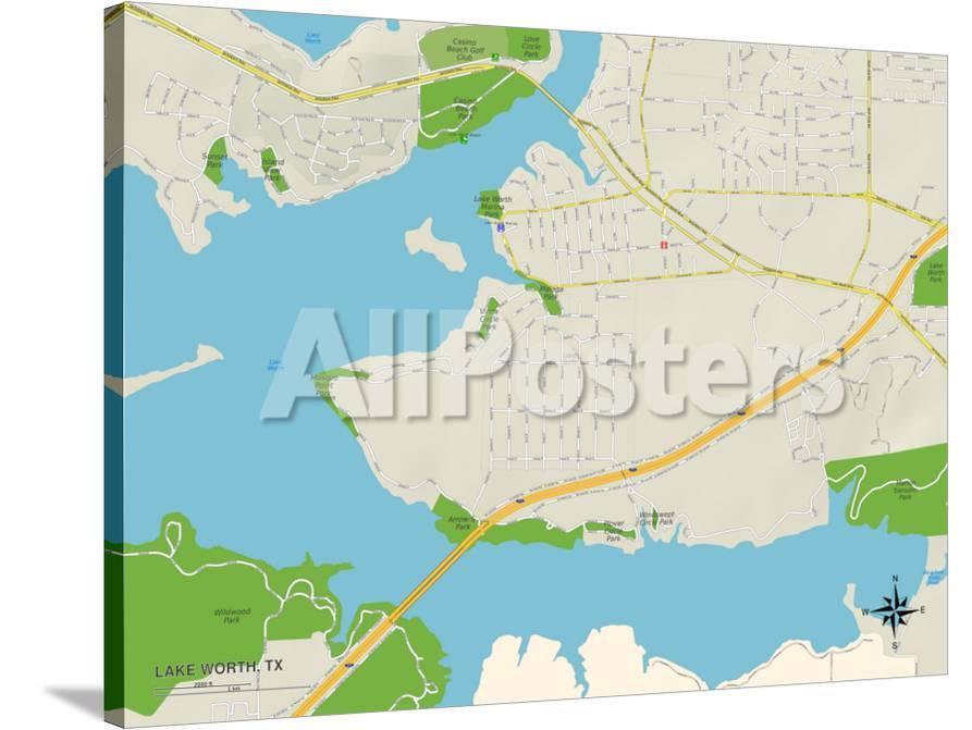 map of lake worth tx Political Map Of Lake Worth Tx Poster Allposters Com map of lake worth tx