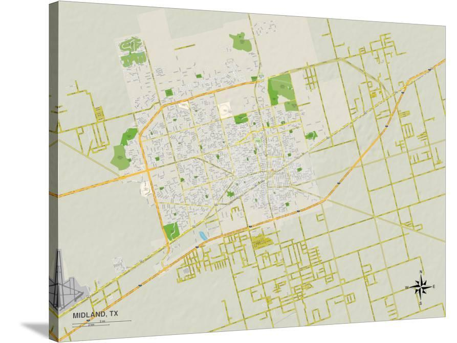 Map Of Texas Midland.Political Map Of Midland Tx