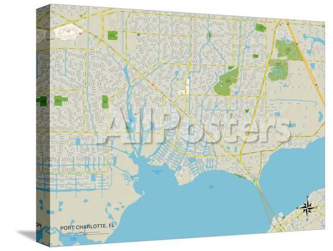 Map Of Port Charlotte Florida.Political Map Of Port Charlotte Fl Art At Allposters Com