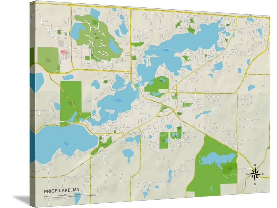 map of prior lake mn Political Map Of Prior Lake Mn Print Allposters Com map of prior lake mn