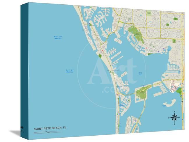 Political Map Of Florida.Political Map Of Saint Pete Beach Fl Posters At Allposters Com