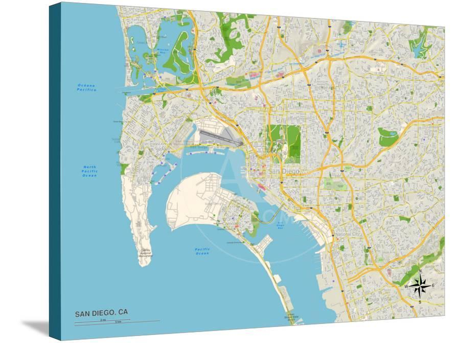 Political Map of San Diego, CA