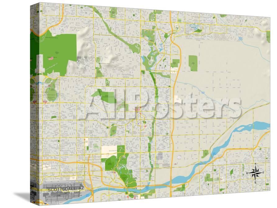 Political Map of Scottsdale, AZ