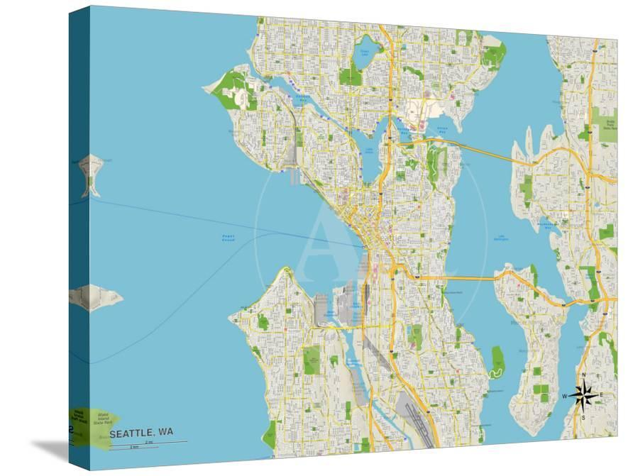 Political Map Of Seattle Wa Prints At Allposters Com