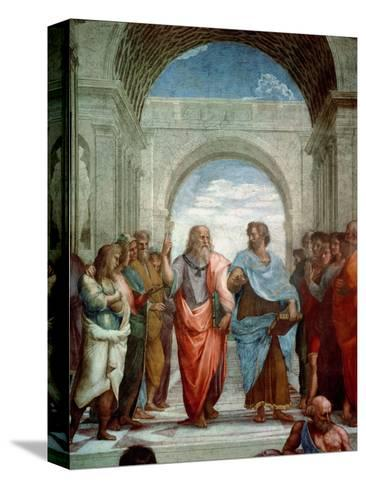 Aristotle and Plato: Detail from the School of Athens in the Stanza Della Segnatura, 1510-11 Reproducción de lámina sobre lienzo