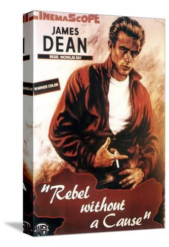 Rebel Without a Cause, James Dean, 1955 Stretched Canvas Print