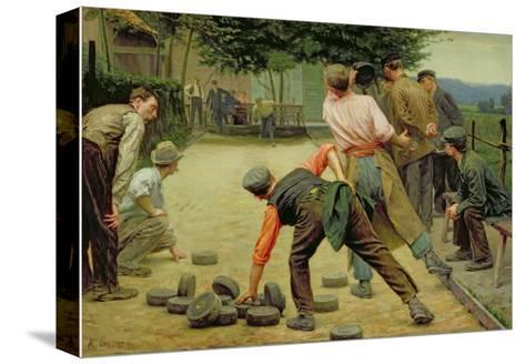 A Game of Bourles in Flanders, 1911 Reproducción de lámina sobre lienzo