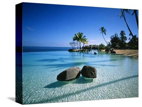 Resort Tahiti French Polynesia Stretched Canvas Print