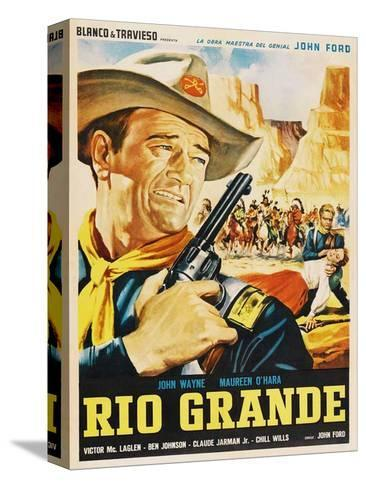 Rio Grande, Mexican Movie Poster, 1950 Stretched Canvas Print
