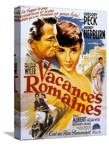 Roman Holiday, Audrey Hepburn, Gregory Peck, 1953 Stretched Canvas Print