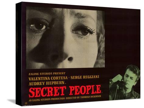 Secret People Reproducción de lámina sobre lienzo