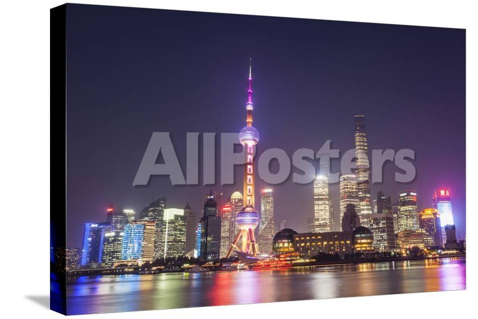 China Shanghai The Bund Pudong Skyline Across The Huangpu River
